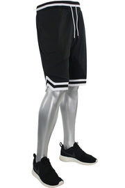 Solid Taping Mesh Shorts Black (191-920) - Zamage