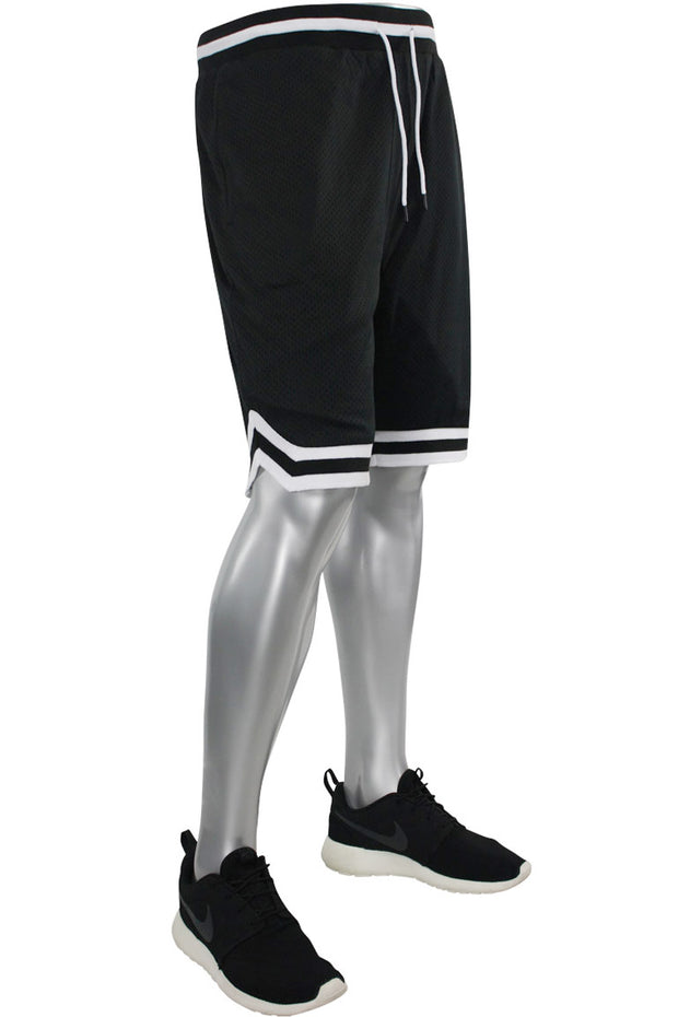 Solid Taping Mesh Shorts Black (191-920)