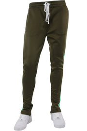 Solid One Stripe Track Pants Olive - Mint (100-402)