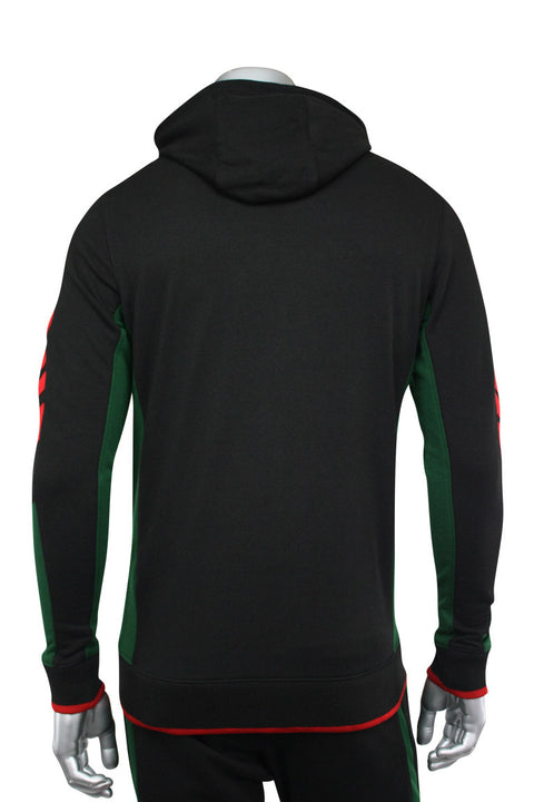 Jordan Craig Color Block Track Hoodie Black - Green (8316H 22S) - Zamage
