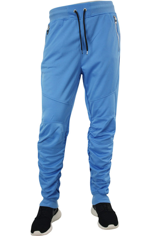 Shirred Leg Joggers Powder Blue (SS8408)