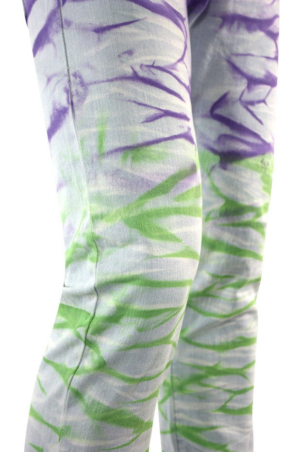 Hawaiian Surf Skinny Fit Denim Purple - Green (M5082D) - Zamage