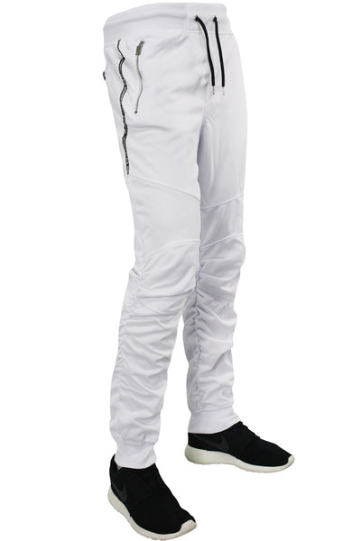 Shirred Leg Joggers White (SS8408)