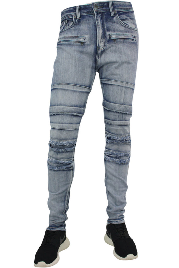 Ripped & Repaired Slim Fit Denim Cloud Wash (M4290DA)