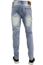 Moto Skinny Fit Denim Light Blue Wash (M4501D) - Zamage