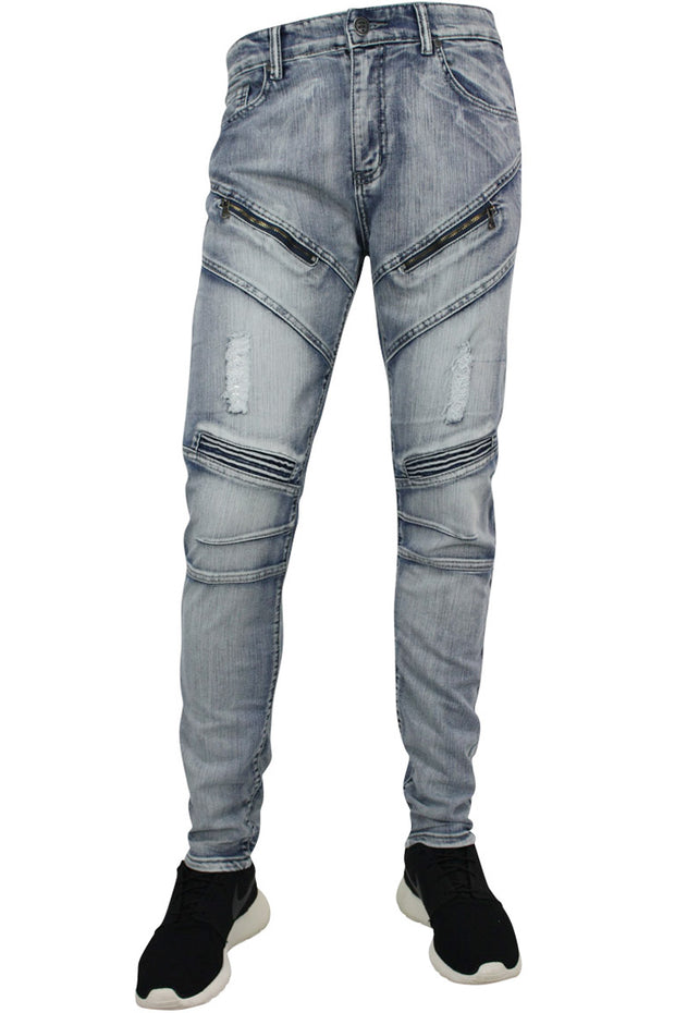 Moto Skinny Fit Denim Cloud Wash (M4333DA) - Zamage