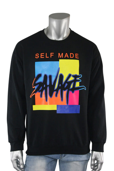 Self Made Savage Crewneck Black (9157CF) - Zamage