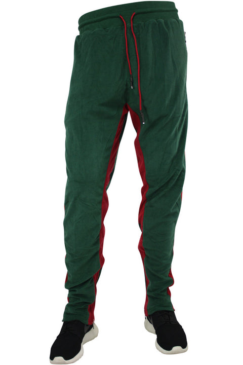 Jordan Craig Velour Track Pants Green (8309 22S) - Zamage