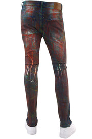 Mix Paint Skinny Fit Denim Multi Wash (M5060D) - Zamage