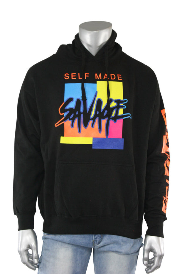 Self Made Savage Hoodie Black (9157H) - Zamage