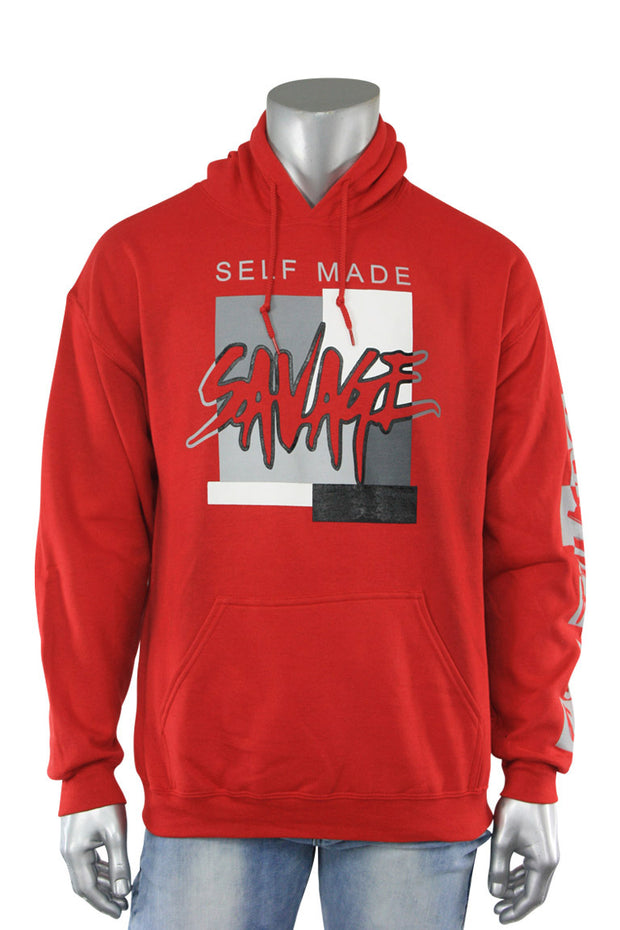 Self Made Savage Hoodie Red (9157H)