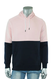 Two Tone Pull Over Hoodie Pink - Navy (CAP03T 22S)