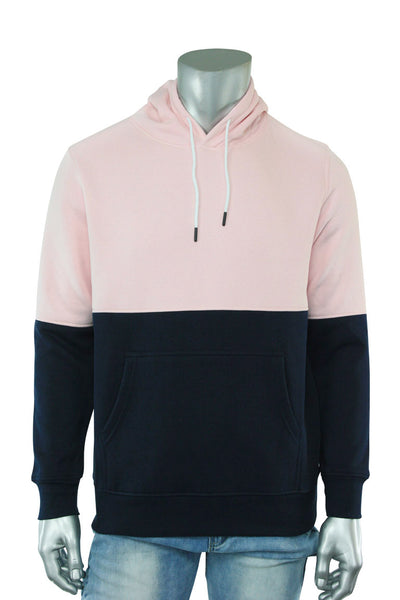 Two Tone Pull Over Hoodie Pink - Navy (CAP03T 22S) - Zamage