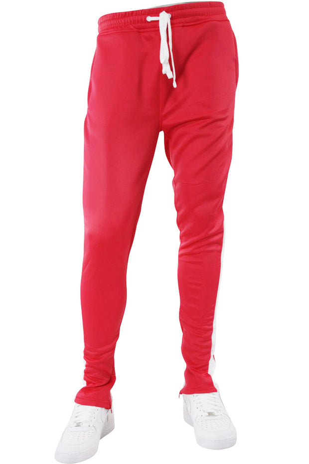 Solid One Stripe Track Pants Pink - White (100-402) - Zamage