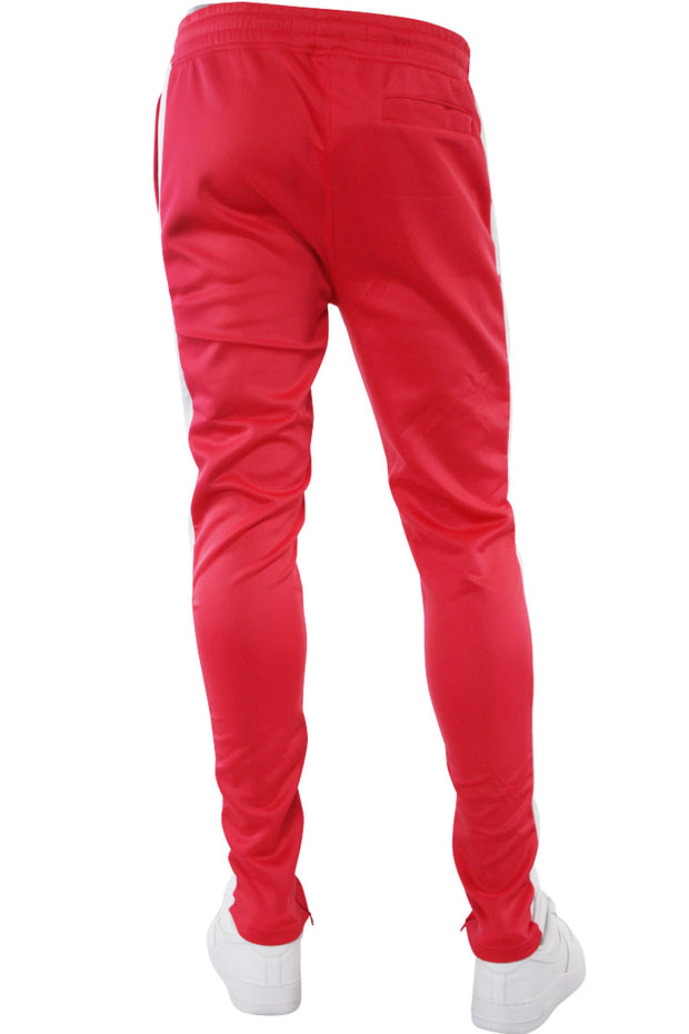 Solid One Stripe Track Pants Pink - White (100-402)