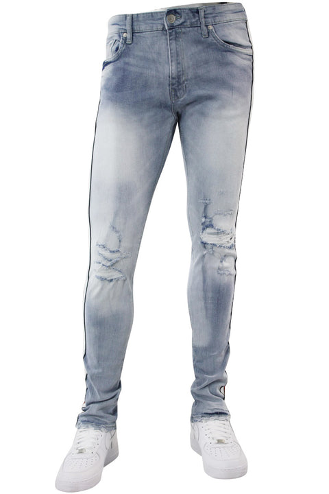 Jordan Craig Double Stripe Track Denim Ice Blue (JM3367) - Zamage