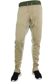 Jordan Craig Color Block Fleece Track Pants Khaki - Olive - Bone (8319 22S) - Zamage