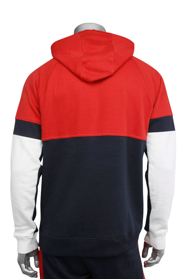 Jordan Craig Color Block Fleece Track Hoodie Navy - Red - White (8319H 22S) - Zamage