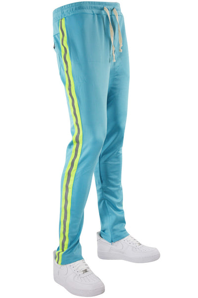 Double Stripe Track Pants Aqua - Lime (HF9624)