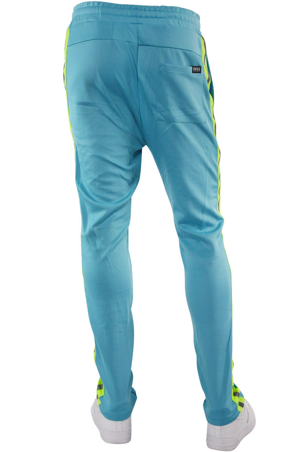 Double Stripe Track Pants Aqua - Lime (HF9624) - Zamage