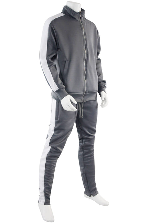 Boys Track Suit Grey - White (800-801) - Zamage