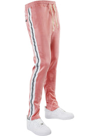 Double Stripe Track Pants Pink - White (HF9624) - Zamage