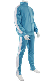 Boys Track Suit Light Blue - White (800-801) - Zamage
