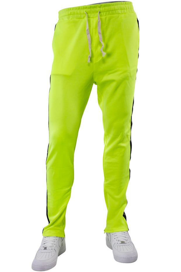 Double Stripe Track Pants Lime - Black (HF9624)