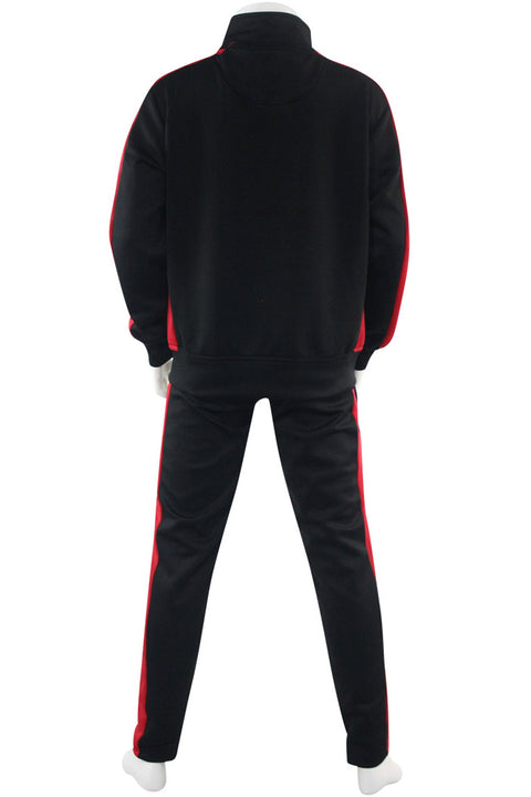 Boys Track Suit Black - Red (800-801) - Zamage