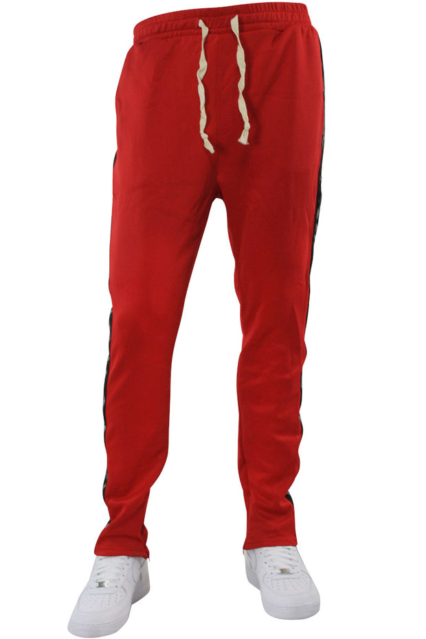 Double Stripe Track Pants Red - Black (HF9624)