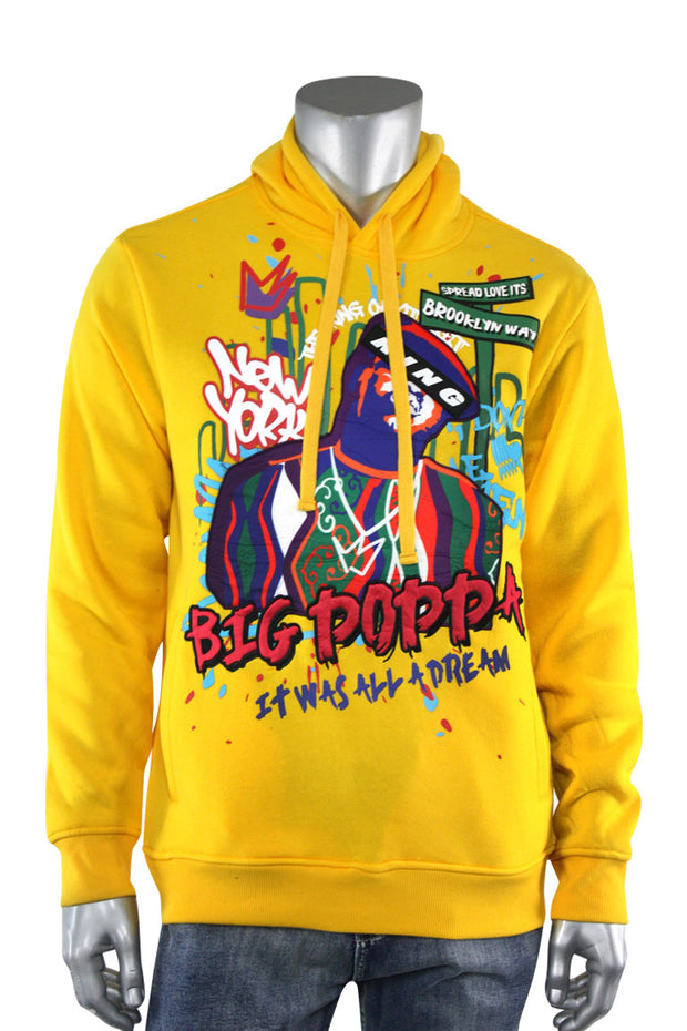 Big Poppa Fleece Hoodie Gold (111-314) - Zamage