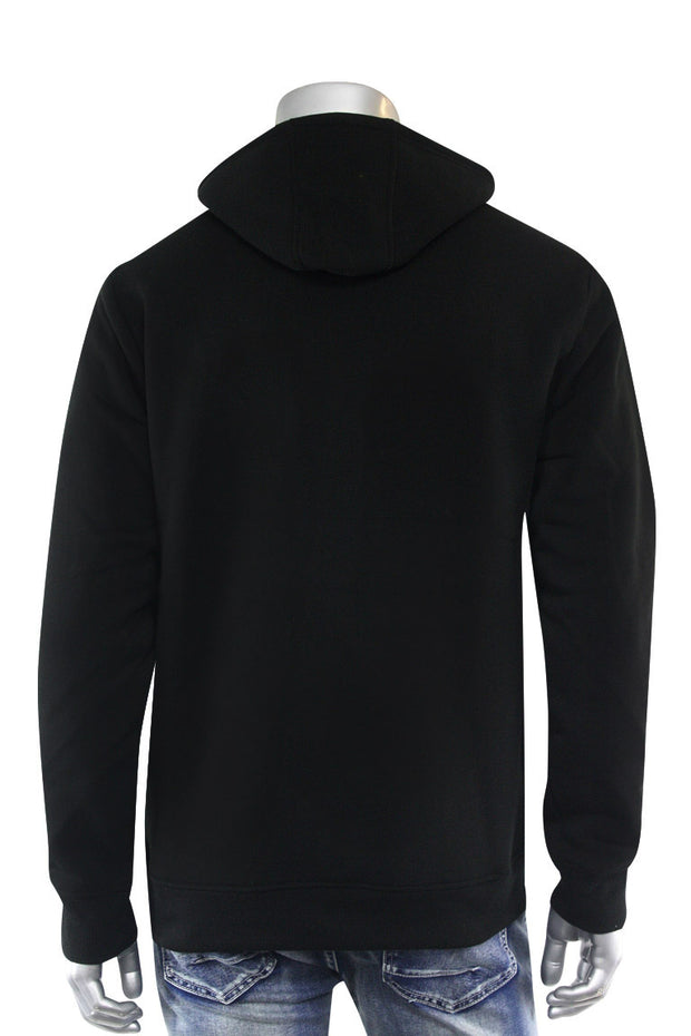 Big Poppa Fleece Hoodie Black (111-314) - Zamage