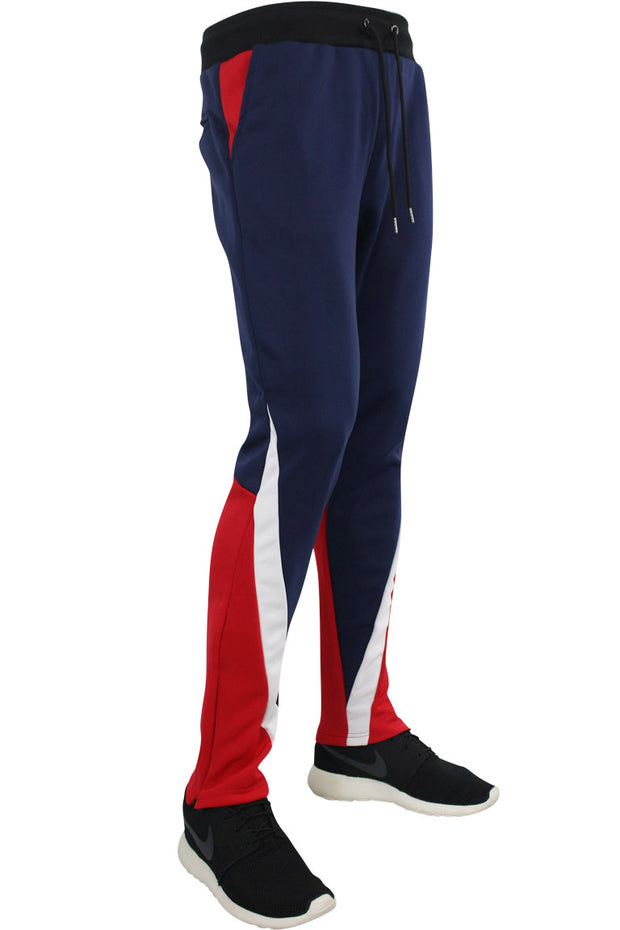 Color Block Track Pants Navy - Red - White (MS-18748 22S) - Zamage