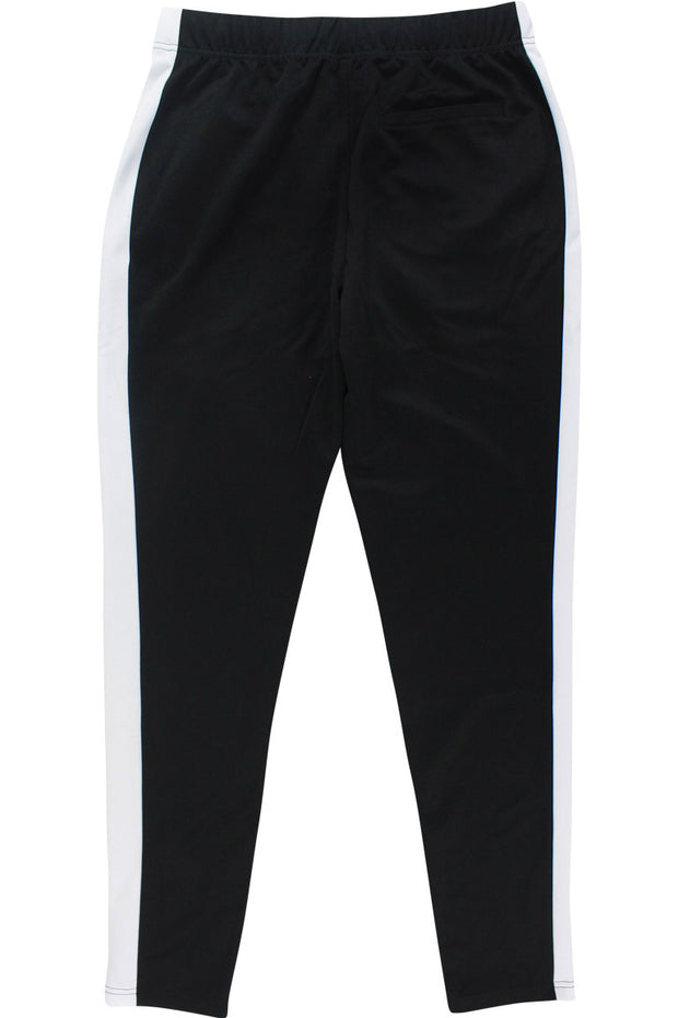 Premium Side Stripe Zip Pocket Track Pants Black - White (ZCM4418Z)