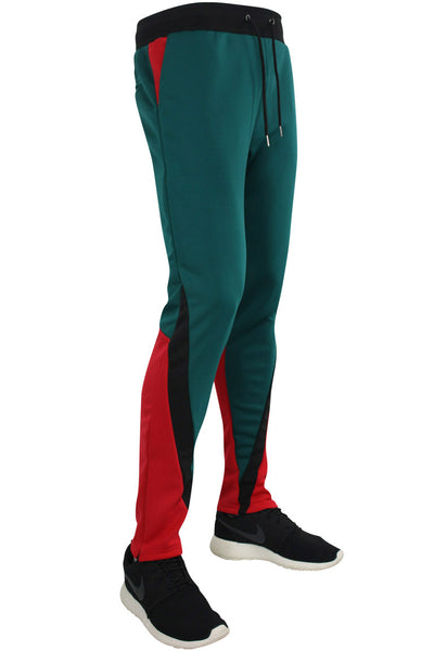 Color Block Track Pants Green - Red - Black (MS-18748 22S) - Zamage