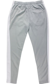 Premium Side Stripe Zip Pocket Track Pants Grey - White (ZCM4418Z) - Zamage