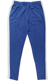 Premium Side Stripe Zip Pocket Track Pants Royal - White (ZCM4418Z)