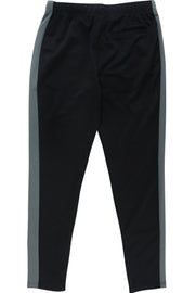 Premium Side Stripe Zip Pocket Track Pants Black - Dark Grey (ZCM4418Z)