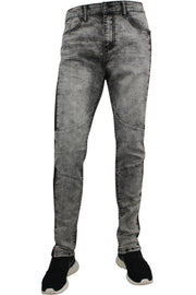 Moto Skinny Fit Denim Track Pants Grey Sky Wash (M4510DA)
