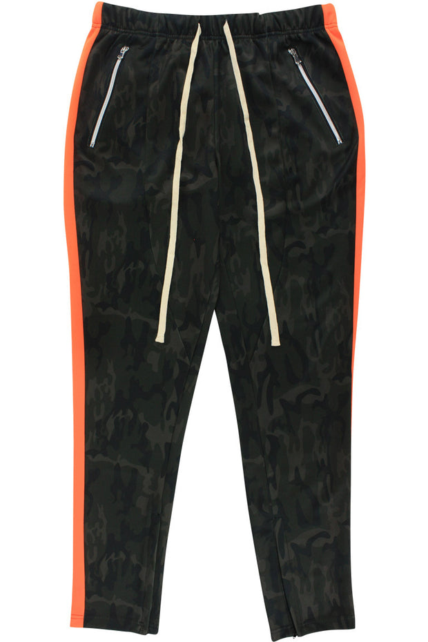 🔥Premium Side Stripe Zip Pocket Track Pants Camo - Orange (ZCM4418Z)