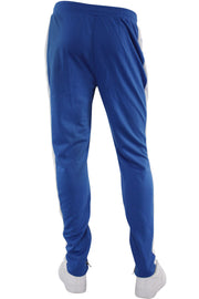 Zip Pocket Side Stripe Track Pants Royal - White (M4418PS) - Zamage