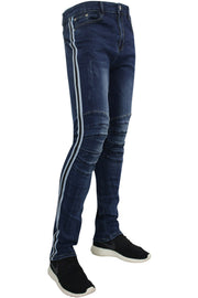 Moto Skinny Fit Track Denim Indigo Wash (M4486D)
