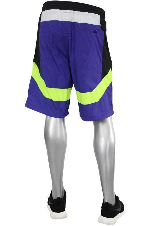 Color Block Nylon Shorts Purple (JS9101) - Zamage