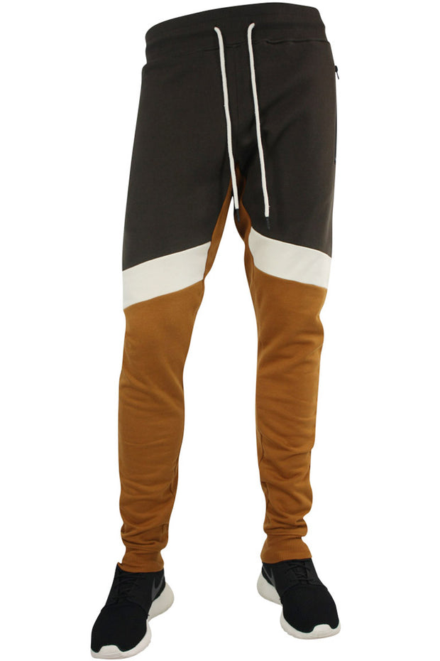 Jordan Craig Color Block Fleece Jogger Burnt Orange (8326 22S) - Zamage