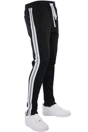 Reflective Tape Track Pants Black (1A1-450) - Zamage