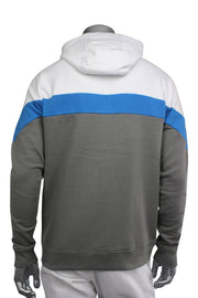 Jordan Craig Color Block Fleece Hoodie White - Blue - Grey (8326H 22S) - Zamage