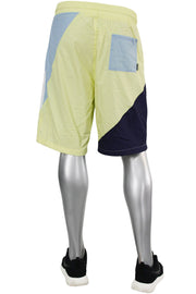 Color Block Nylon Shorts Sky Blue (JS9389) - Zamage