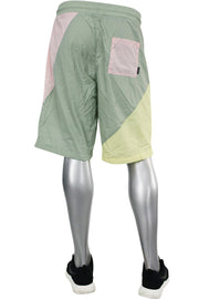 Color Block Nylon Shorts Washed Coral (JS9389) - Zamage