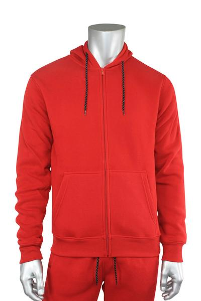 Basic Fleece Full-Zip Hoodie Red (1531 22S)