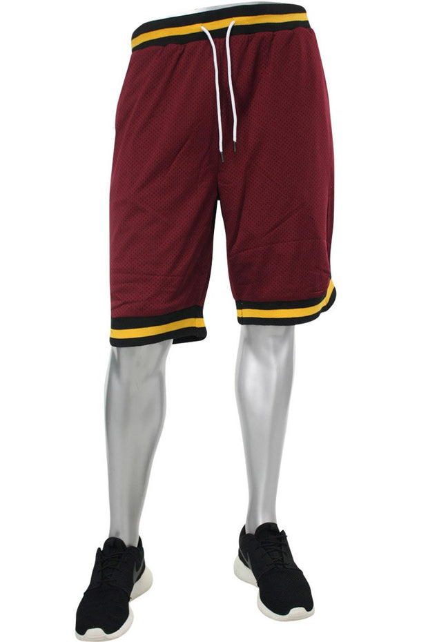 Solid Taping Mesh Shorts Burgundy (191-920 22S)